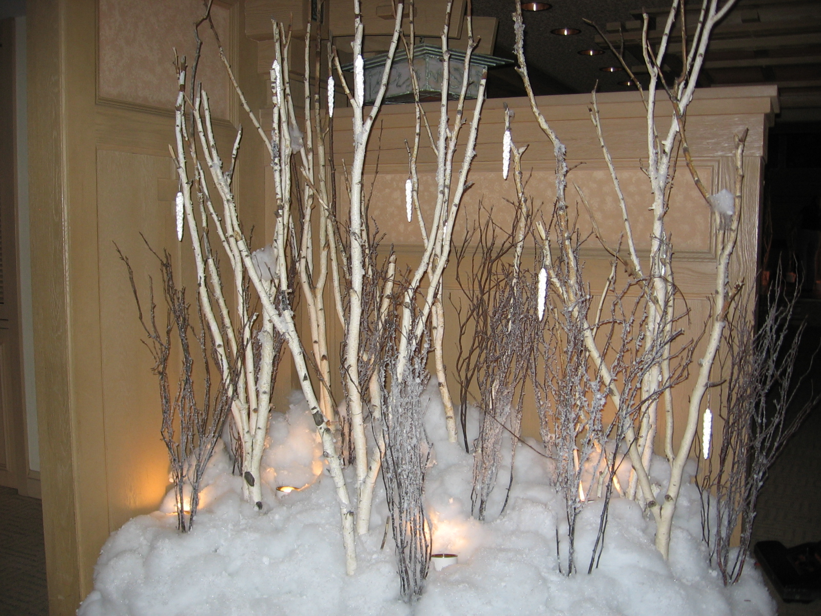 see birch trees under props - Birch Christmas Decorations